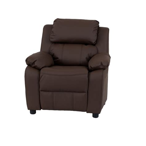 kids brown recliner deluxe padded contemporary brown leather kids recliner