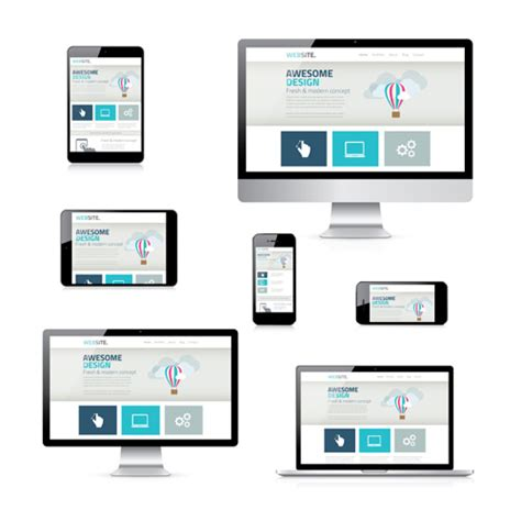responsive design template 13 responsive web design vector images responsive web