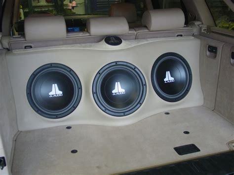 bmw   custom subwoofer enclosure   jl audio  safe  sound mobile