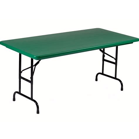 Adjustable Height Folding Table 30 X 60 Folding Table Adjustable Height By Correll In Folding Tables