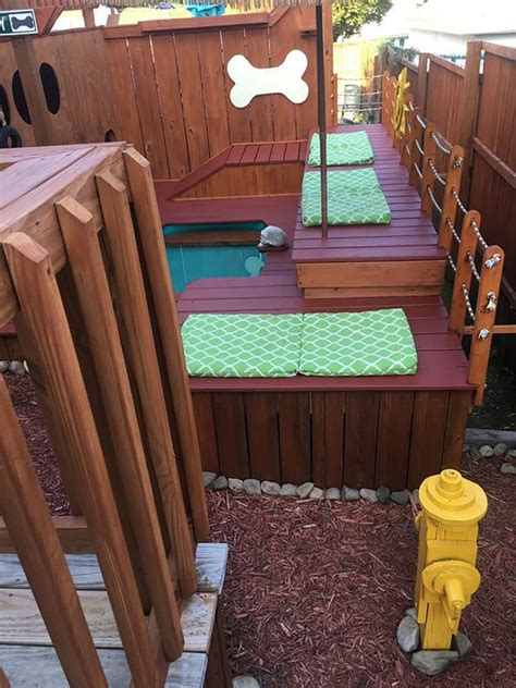 dog playground backyard man spends 2 years turning his backyard into an awesome