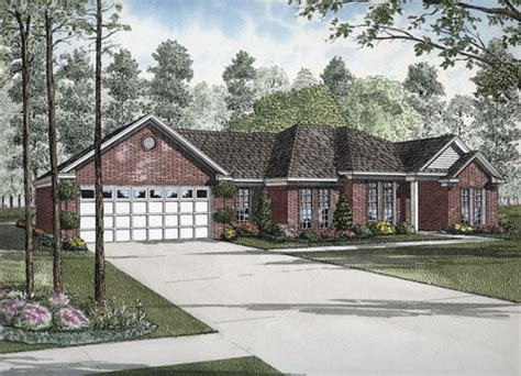 Small Brick House Curb Appeal High Resolution Golf Course House Plans 11 Brick Ranch