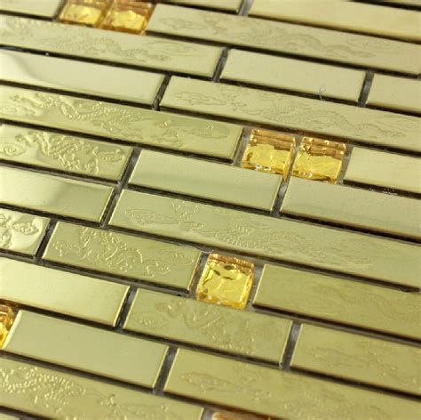 gold glass tile backsplash stainless steel tile backsplash ssmt278 kitchen mosaic