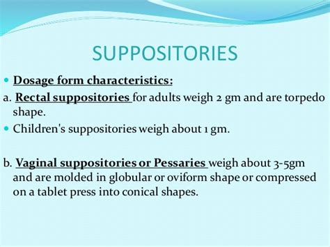 anatomy of a viginal size and types pharmaceutical suppositories