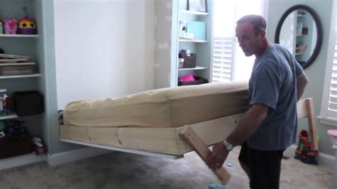 diy wall bed    youtube
