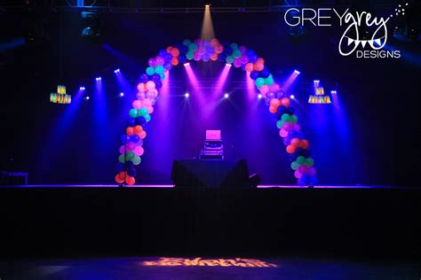 Greygrey designs my parties ryan s glow in the dark 18th birthday party