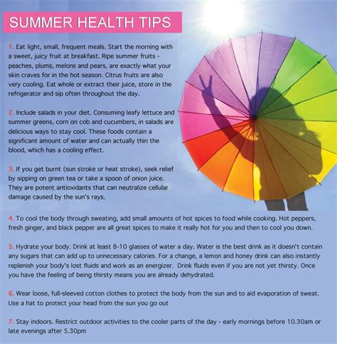 Some Tips For Summer by Health Tips Health Tips For Summer