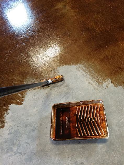 staining and finishing concrete floors white