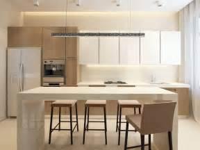Nice Plan De Travail Solid Surface #10: White-modern-kitchen-dining-island.jpg