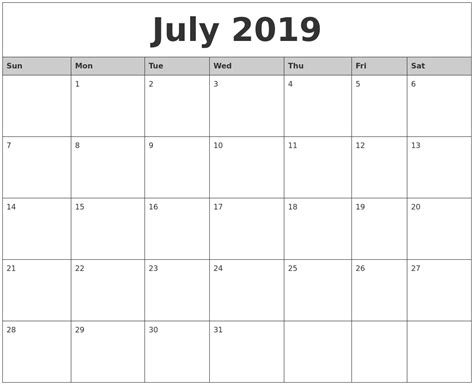printable monthly calendar with pictures may 2019 blank printable calendar