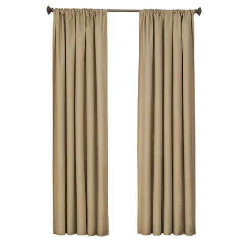 home depot curtain panels eclipse kendall blackout cafe curtain panel 84 in length