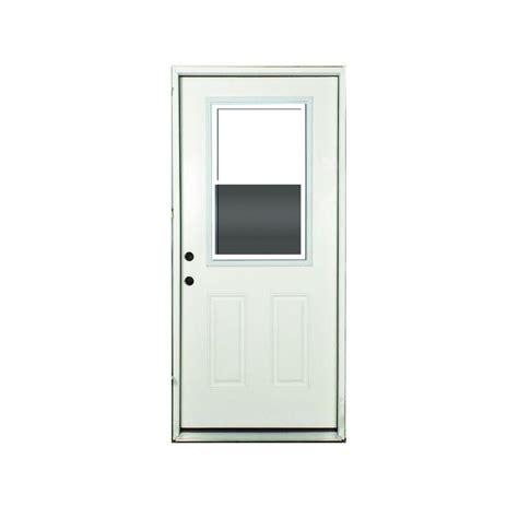 Vented Exterior Door Steves Sons 32 In X 80 In Vented 1 2 Lite Primed White Fiberglass Prehung Front Door