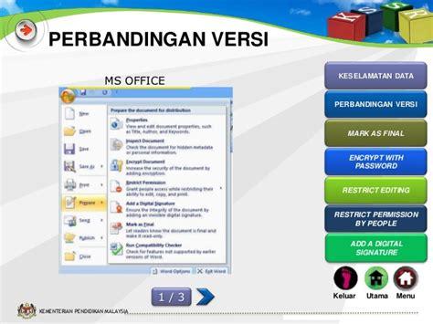 Microsoft Office 2007 Di Malaysia slot 9 kata laluan