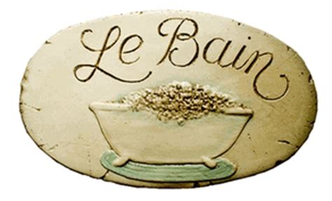 le bain sign bathroom le bain sign french bathroom decor french country wall