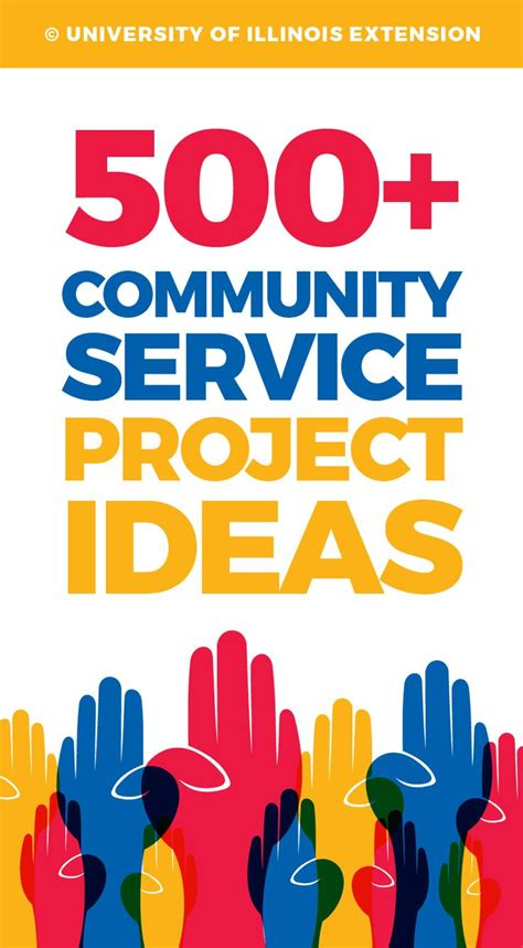 Service Ideas Service Projects And 500 community service project ideas great list for school or 4 h projects teaching