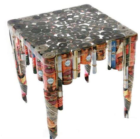 things made out of recycled materials recycled junk mail tables revision furniture