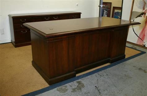 kimball president executive desk kimball president walnut executive desk credenza set ebay