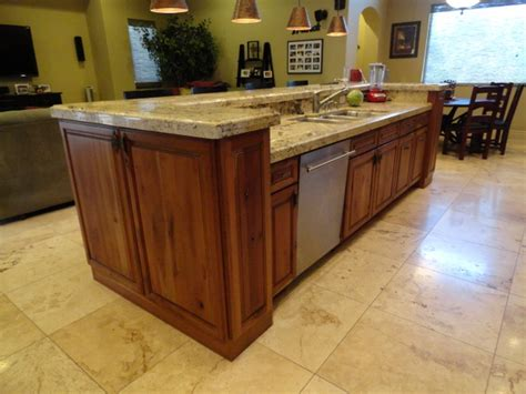 stylish kitchen island with sink and dishwasher for the