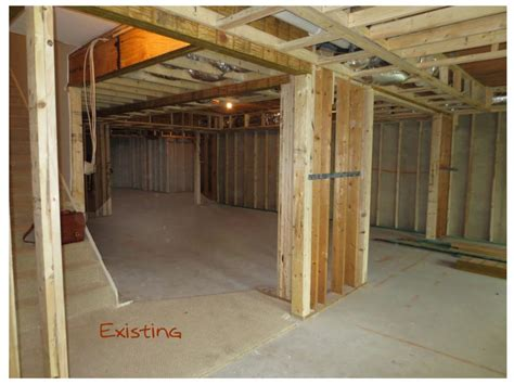a dazzling basement update with open floor plan