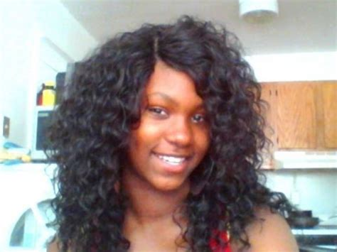curly 14 inch curly invisible part model model sassy curl w invisible part install youtube