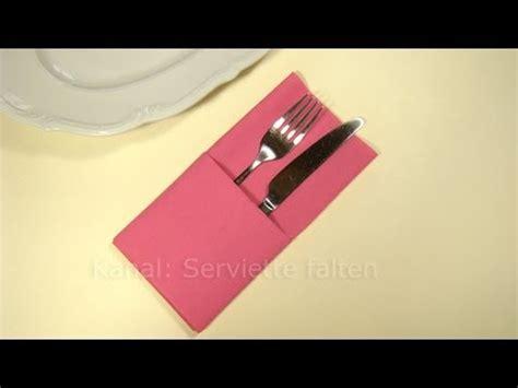 servietten falten tasche servietten falten einfache bestecktasche falten