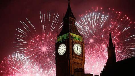 years eve fireworks  london big ben clock  london