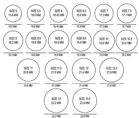 printable ring size chart mens images for gt printable ring sizer actual size