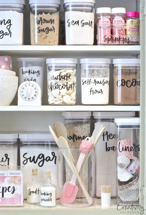 Pantry Shelf Labels by Storage Sources And Tips For Creating A Baking Cabinet