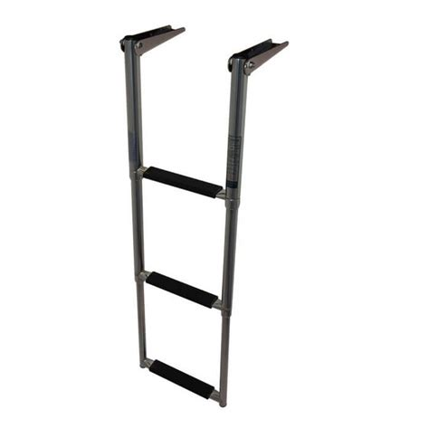 boat ladder telescoping 3 step stainless steel boat ladder boat outfitters