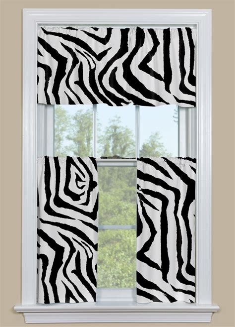curtain patterns for black and white kitchen animal print kitchen curtain in black and white zebra design