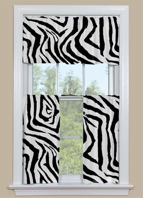 zebra pattern curtains animal print kitchen curtain in black and white zebra design