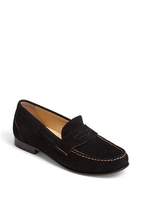 black cole haan loafers cole haan loafer in black black suede lyst