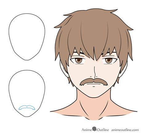 a mustache is a hard thing to draw with a mouse in how to draw anime facial hair beards mustaches anime