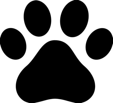 Dog Paw Clip Art Black Paw Print Silhouette Dog Art Paw Print Silhouette