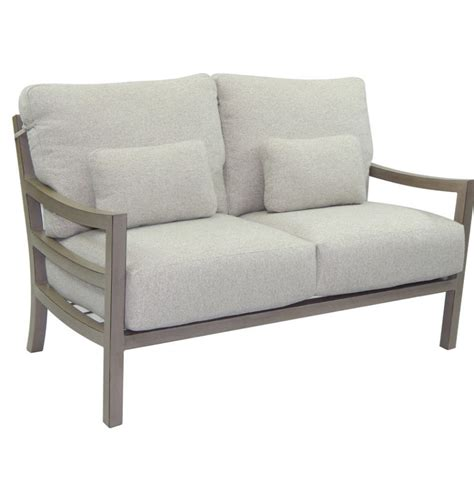 roma cushioned lounge loveseat hausers patio