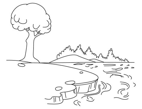 coloring page river 12 images of coloring pages of lakes rivers and streams