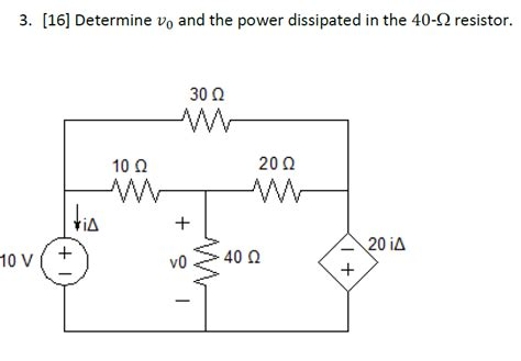 power dissipated by the resistor formula electrical engineering archive september 14 2016 chegg