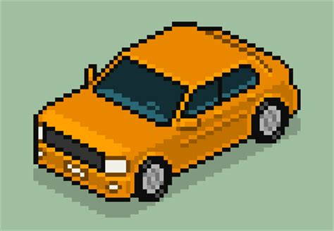 pixel art car how to create an isometric pixel art vehicle in adobe