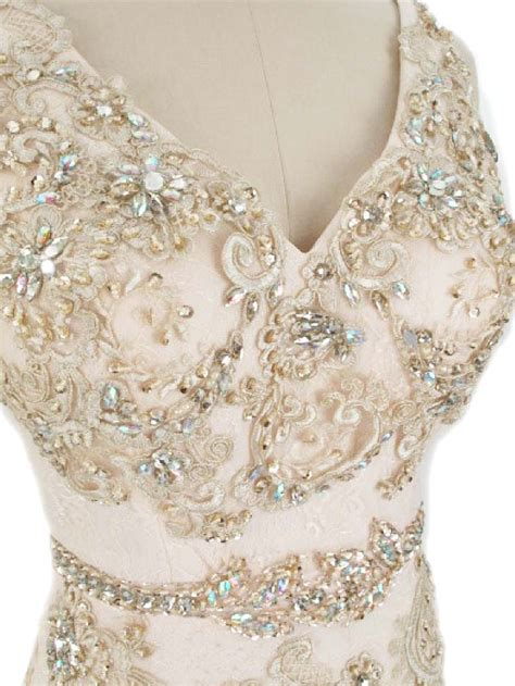 champagne lace 30s style gown vintage style wedding dress