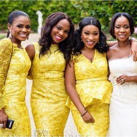 aso ebi style for blue and yellow colour nigerian wedding yellow ore iyawo aso ebi color