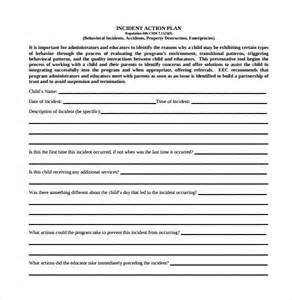 incident plan template sle incident plan template 7 free documents