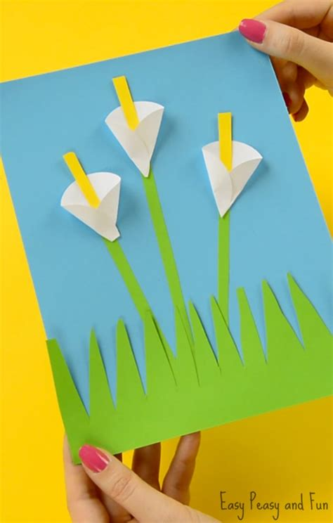 Color Craft Paper - calla paper craft flower craft ideas easy peasy