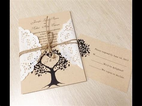 Wedding Invitations Ideas Diy by Unique Diy Wedding Invitation Ideas