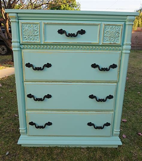 Seafoam Green Dresser by Shabby Chic Provincial Dresser Sea Foam Green 4