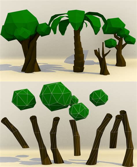 How To Make Tree Model From Paper - 3d model 3docean low poly paper tree 9232154 187 dondrup
