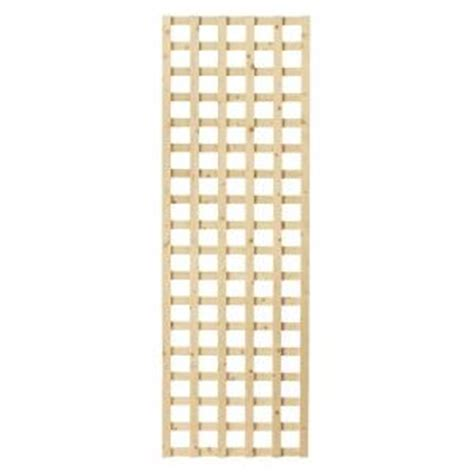 1 1 2 in x 24 in x 6 ft wood square lattice screen