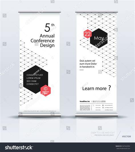 minimalist design banner minimalist multipurpose roll banner design brochure stock