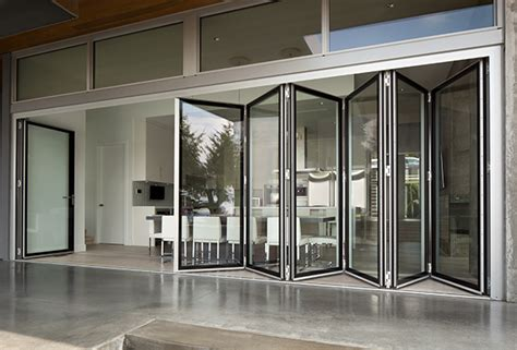 Bi Fold Doors With Glass Inserts Folding Glass Walls Eight Systems Of Connected Bi Fold Door Panels Offer Hundreds Of Fold And