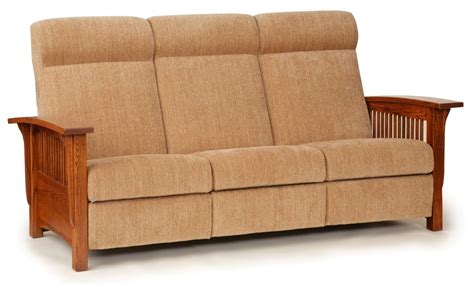 mission style loveseat recliner town country furniture mission style reclining sofa