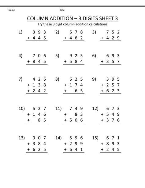 Printable Grade Math Worksheets